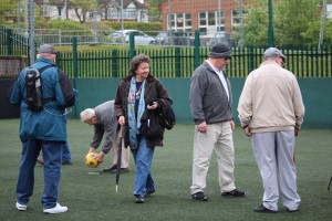 Charity walking football match Take Heart Southend