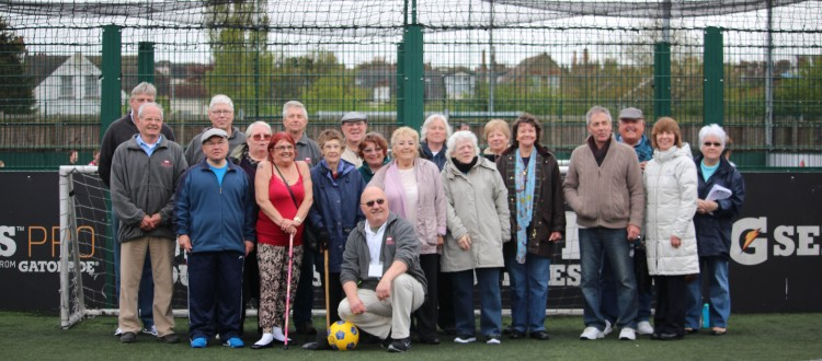 Team photo for walling football charity match