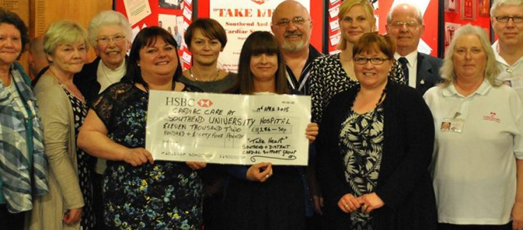 Donation to Southend cardiac care from take heart